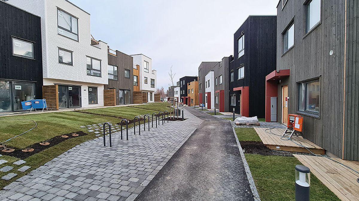 For å sikre seg en bolig i prosjektet må man ut med seks millioner kroner for de minste enhetene til åtte millioner for de største og dyreste. Foto: Ø.M. Fjeld