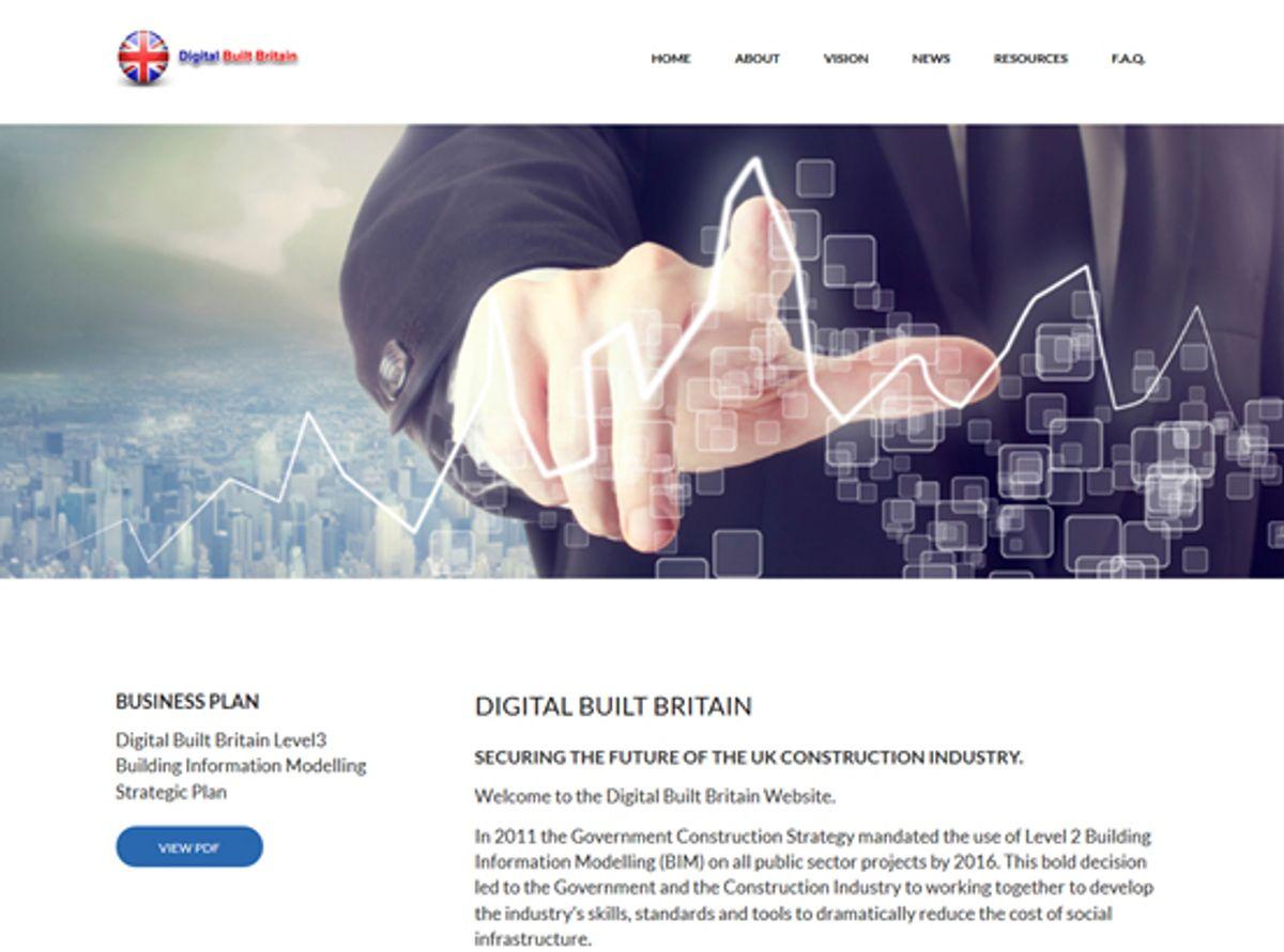 <p>Digital Built Britain - hjemmeside – Kilde: DBB, 2015</p>