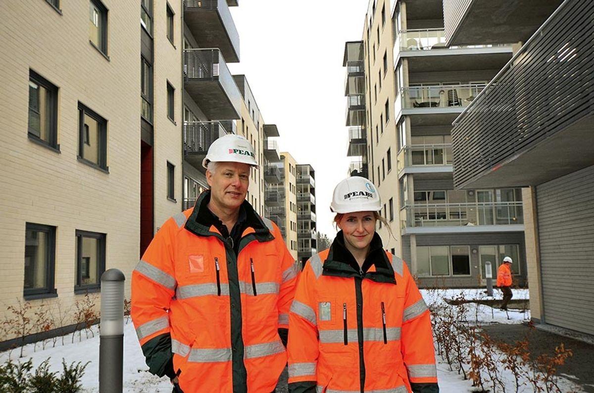 Prosjektleder Anton Salvesen og produksjonsleder Ann Kristin Engen.