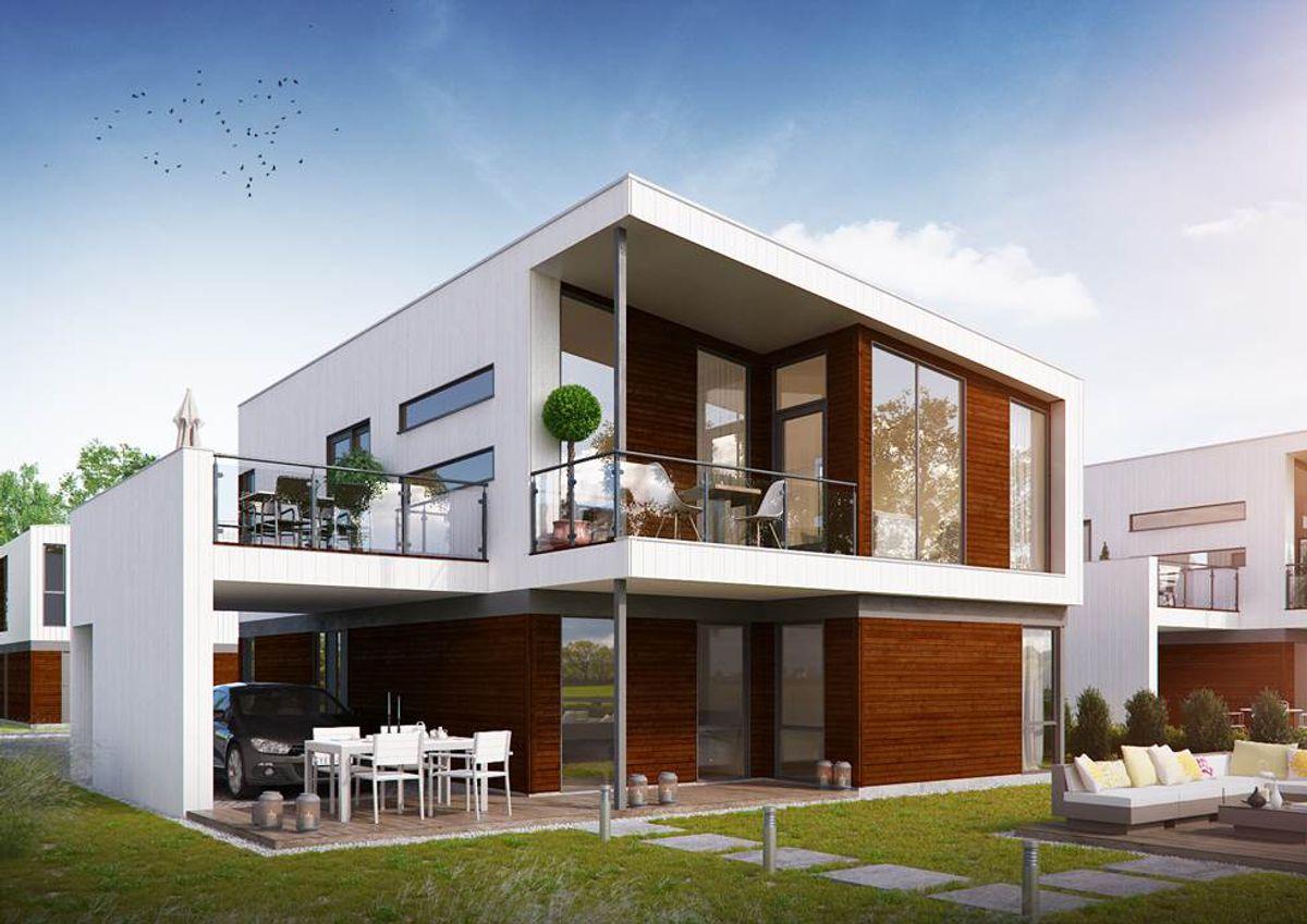 Eksempel på enebolig i Signatur-serien som er et resultat av samarbeidet med boligdesigneren Ben Giske i Fylling og Bjørge Bygg.