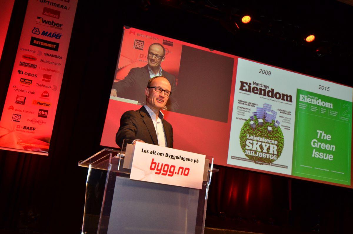 Administrerende direktør i Enova, Nils Kristian Nakstad, under Byggedagene 2015.