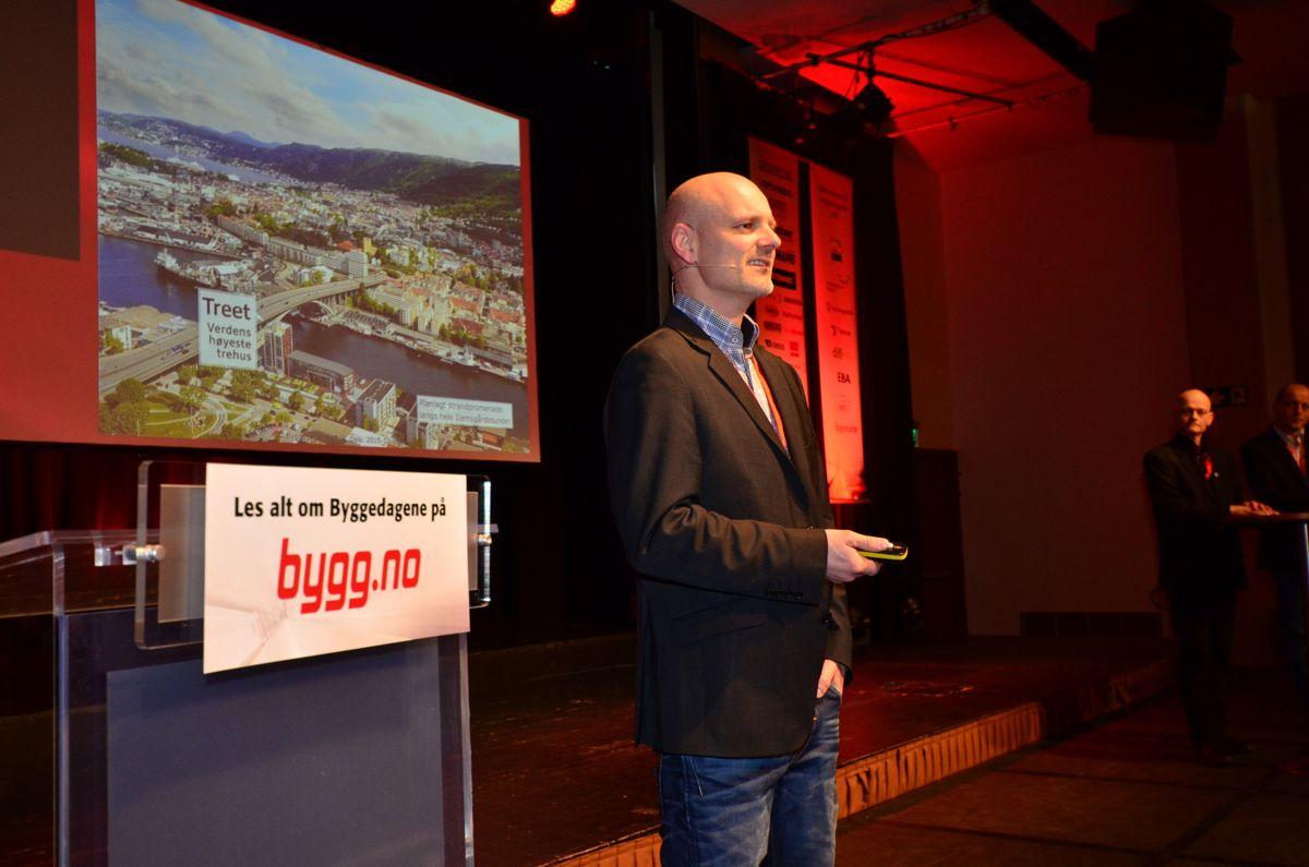 Ole Kleppe, prosjektsjef i Bergen og Omland Boligbyggerlag under Byggedagene 2015.
