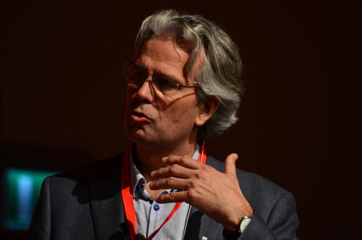 Jon Sandnes under Byggedagene 2015.