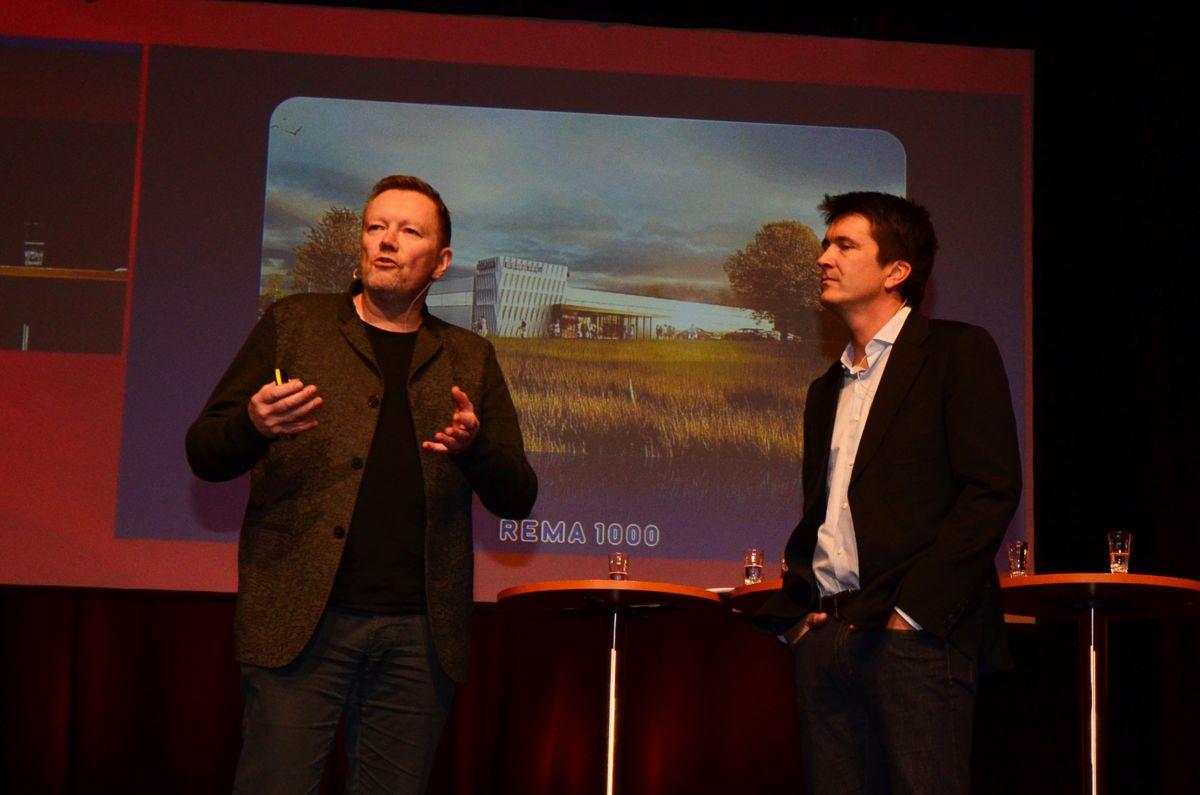 Kjetil Trædal Thorsen (til venstre) og Ole Robert Reitan under Byggedagene 2015.
