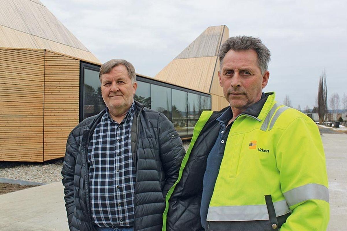 Prosjektleder Steinar Grinden (t.v) og formann Finn Flisen Foto: Homleid
