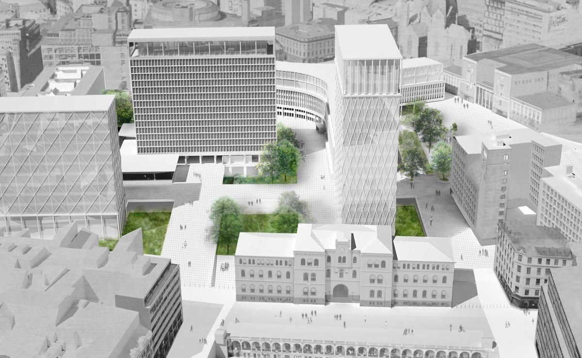 Forslaget fra studentene ved Arkitektur- og designhøgskolen.
