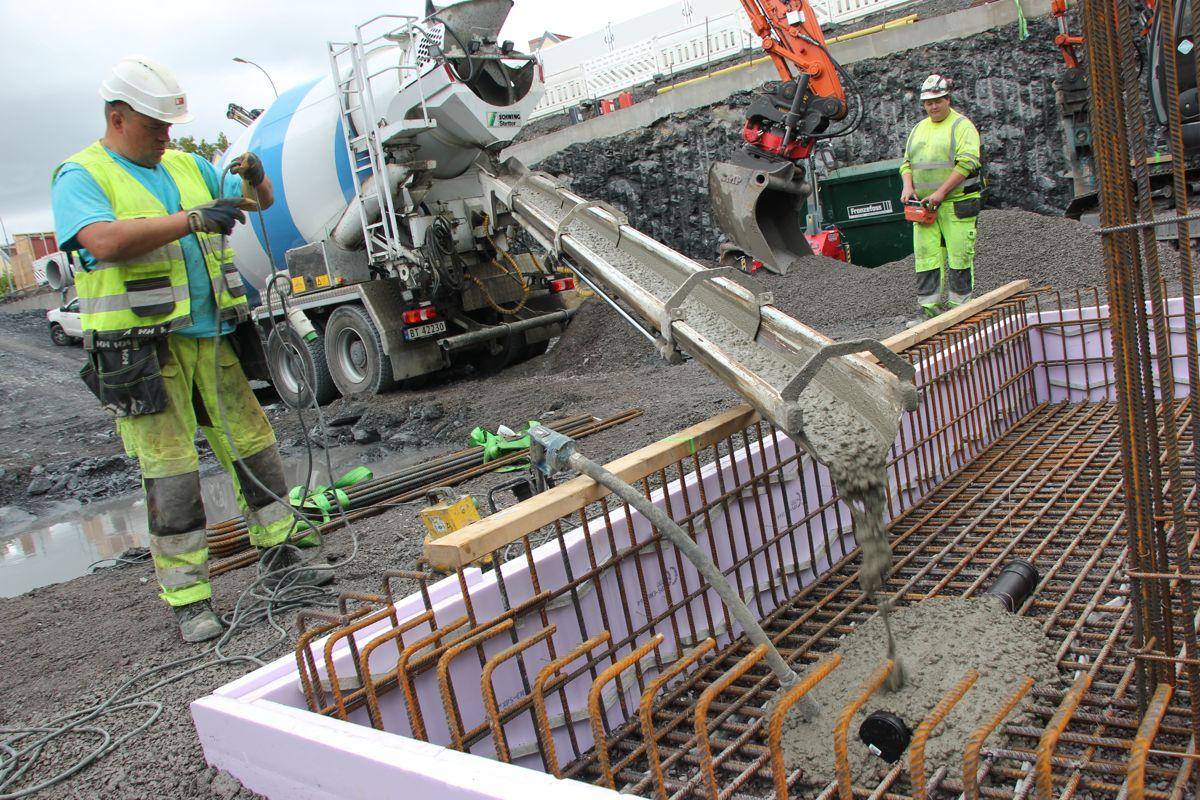 HELSFYR PULS: Her forsegles tidskapselen i betong. Foto: Svanhild Blakstad