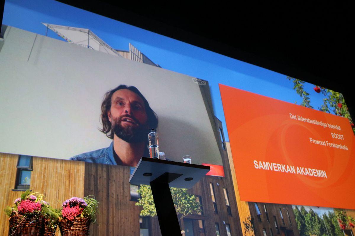 Mikael Ludvigsson fra Smart Housing Småland var med på Skype.