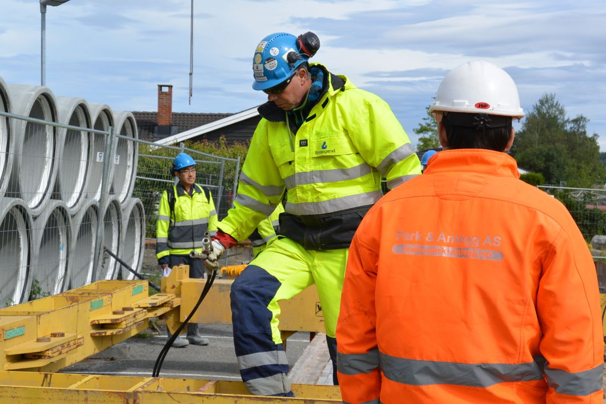 Byggeplassleder Geir Berntsen fra Kynningsrud Fundamentering. Foto: Kynningsrud