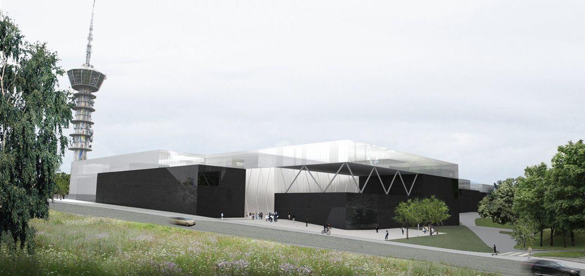 Ocean Space Centre i Trondheim. Illustrasjon: SINTEF