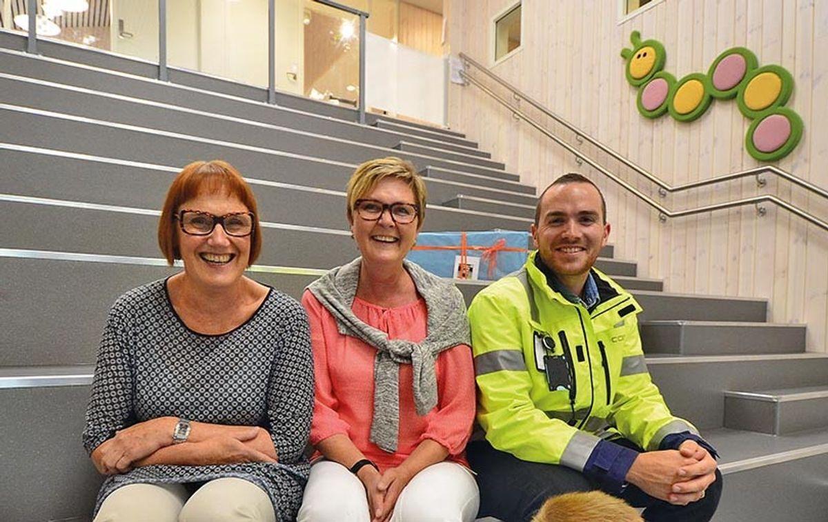 Fra venstre: Kari Fossan Ruud, Margit Engnæs Hoff og Bjørn Kristian Hole.