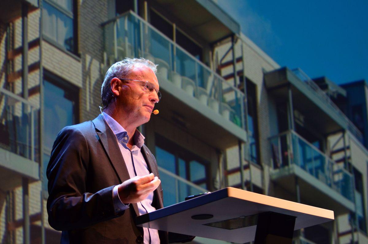 Raymond Johansen (AP) under OBOS Boligkonferanse 2015. Foto: Sindre Sverdrup Strand
