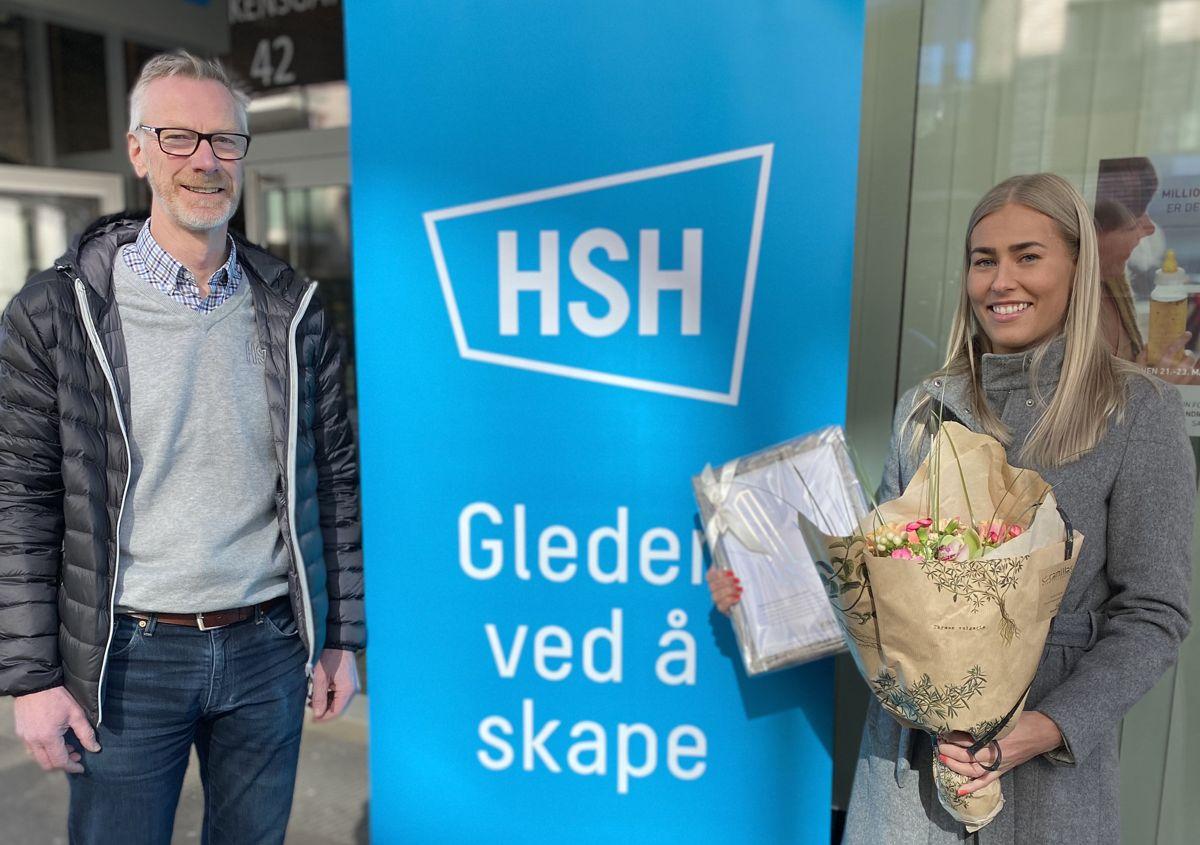 NOMINERT: Daglig leder Svein Resmann og lærlingansvarlig Line Hobbesland i HSH. Foto: Lena Løland