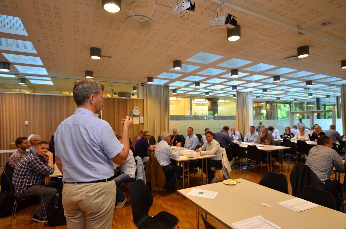 Næringspolitisk direktør i BNL, Audun Lågøyr, ønsket velkommen til høringsmøtet om felles sikkerhetsopplæring. Foto: Sindre Sverdrup Strand