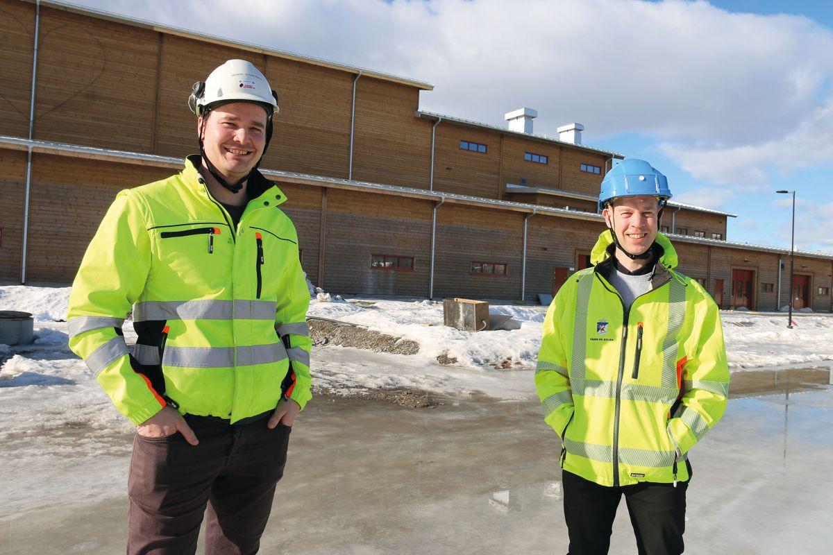 Prosjektleder Henrik Stokkebek i Evensen & Evensen (t.v) og prosjektleder Lars Philip Olaussen i Lillehammer kommune, har samarbeidet godt i prosjektet.