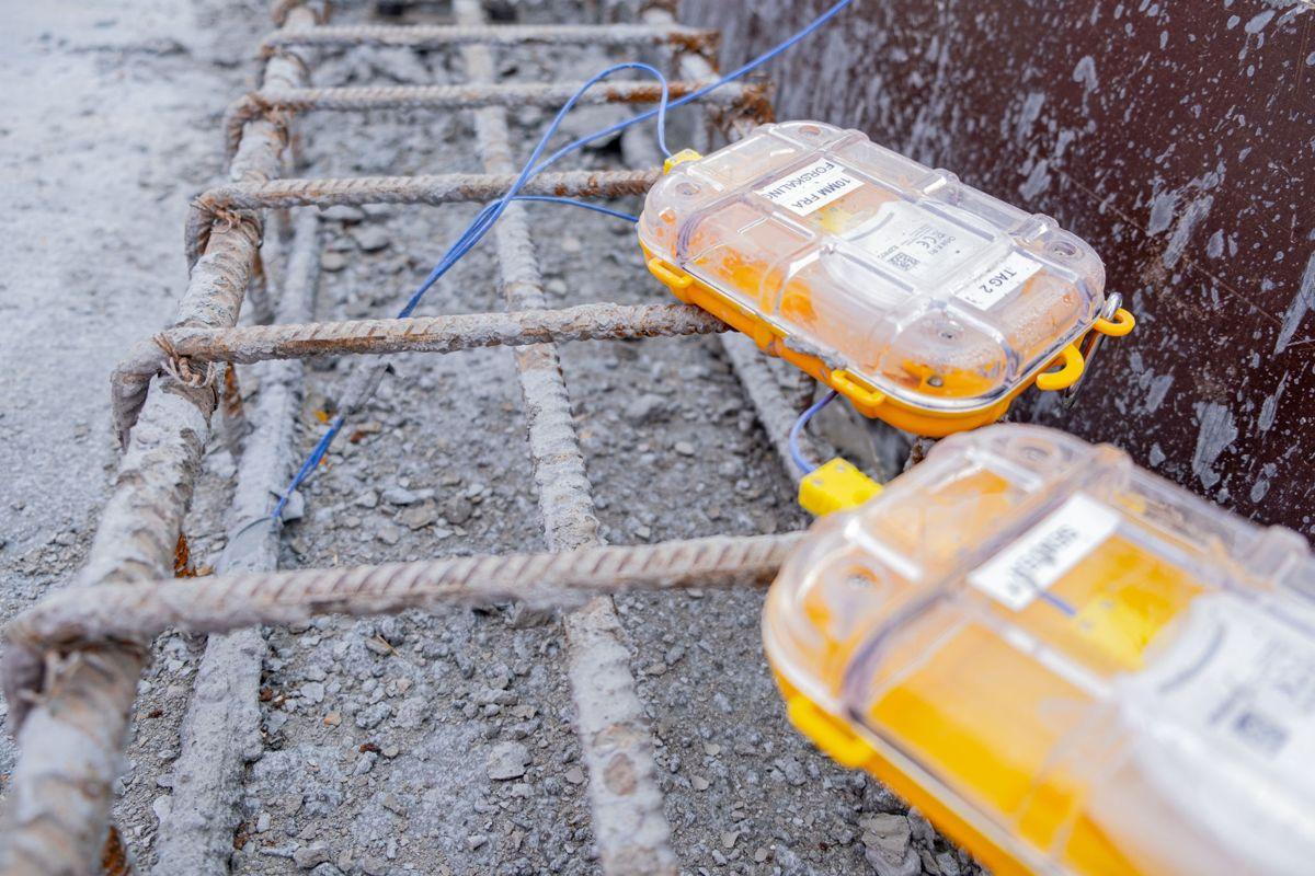 Med ny sensorteknologi utviklet og videreutviklet for røff bruk i plasstøpte konstruksjoner ute på plassen, melder Kruse Smith at de kan levere betongkonstrusjoner med redusert herdetid. Foto: Kruse Smith