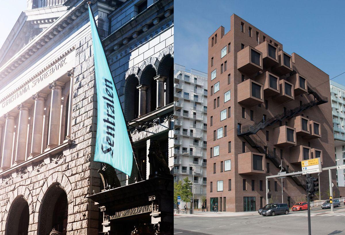 Sentralen (til venstre) og The Wedge er Norges finalister i Nordic Architecture Fair Award 2017.