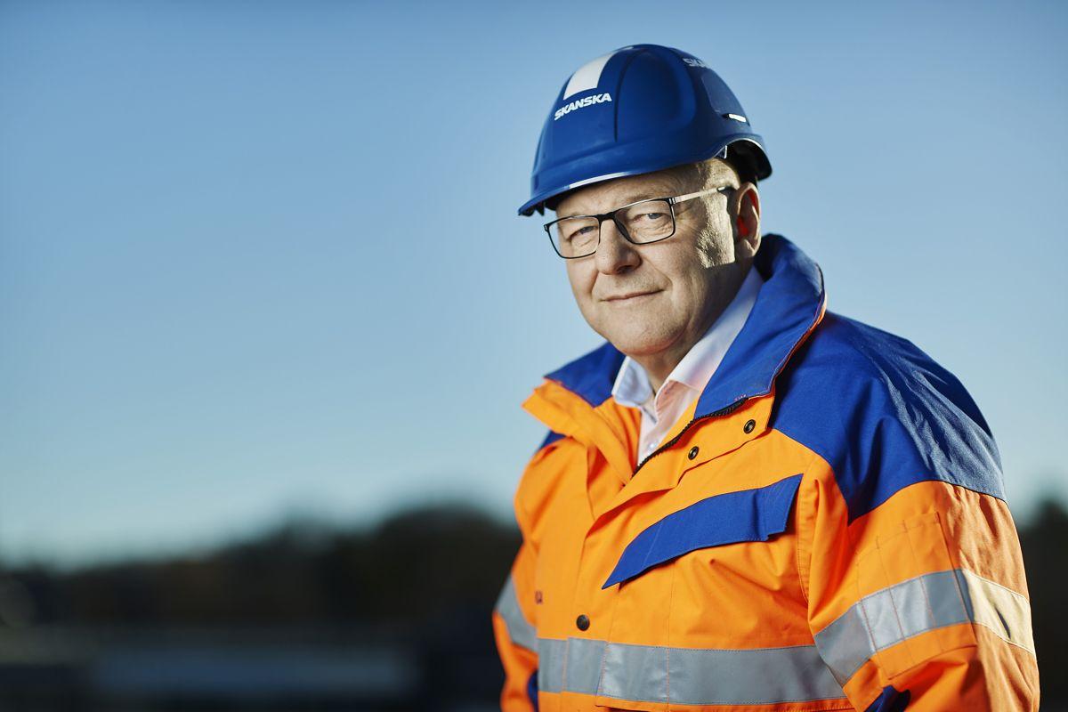 Steinar Myhre, konserndirektør med ansvar for anleggsvirksomheten i Skanska Norge AS. Foto: Skanska