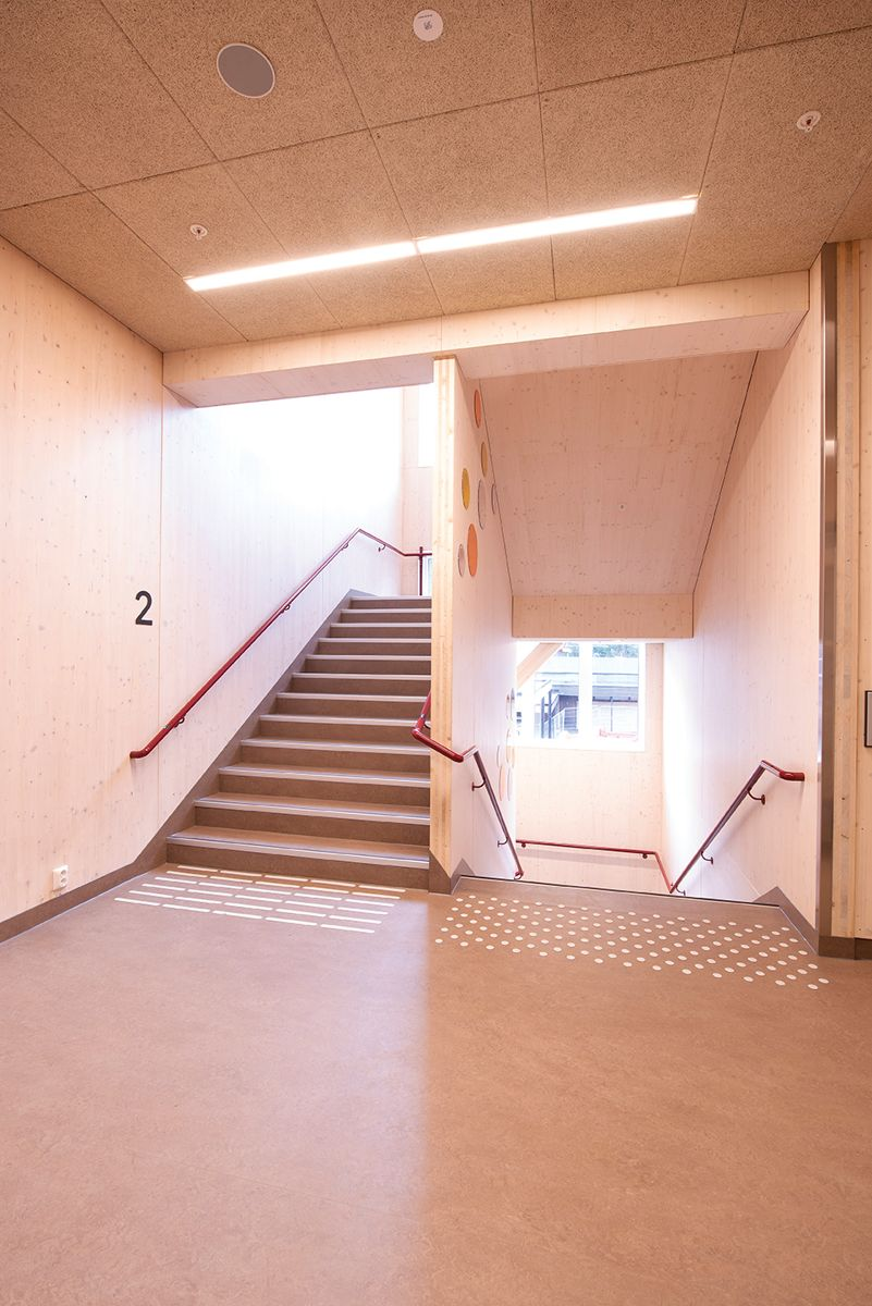 Nøklevann skole i Oslo, 15.4.2021. Foto: Trond Joelson, Byggeindustrien