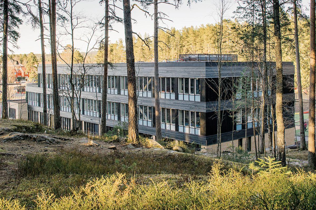 Nøklevann skole i Oslo, april 2021 Foto: Gaute Gjøl Dahle