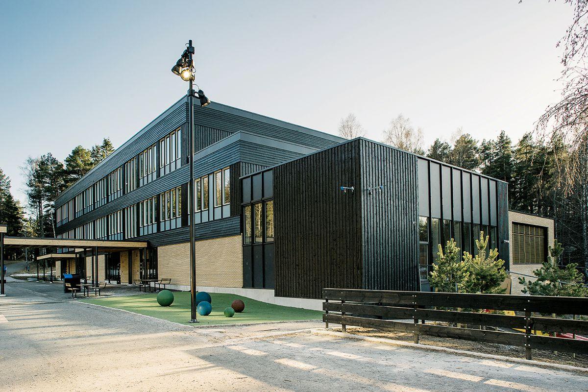 Nøklevann skole i Oslo, 10.4.2021. Foto: Gaute Gjøl Dahle