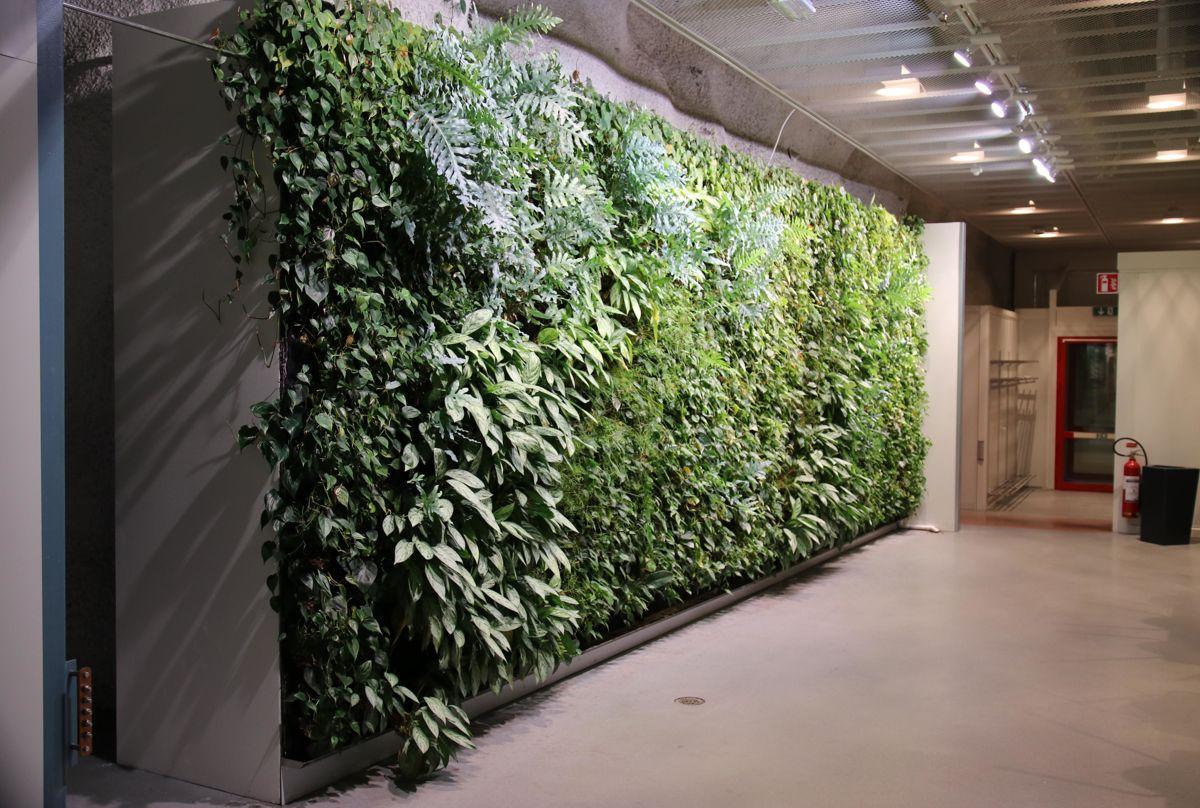 I tillegg til verkstedene er det matsal og kontrollrom på nivå 1.365. Det er til og med en grønn vegg der.