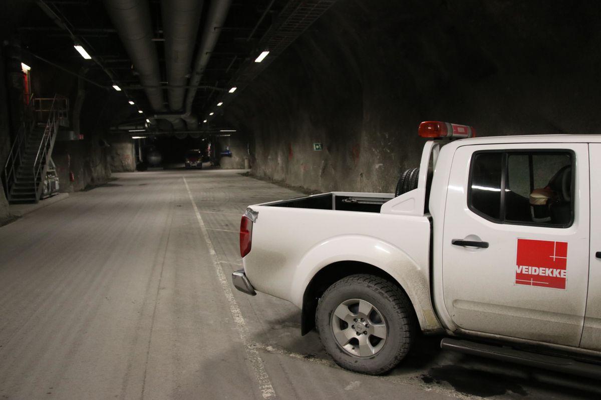 Tunnelene nede i gruvene holder god standard.