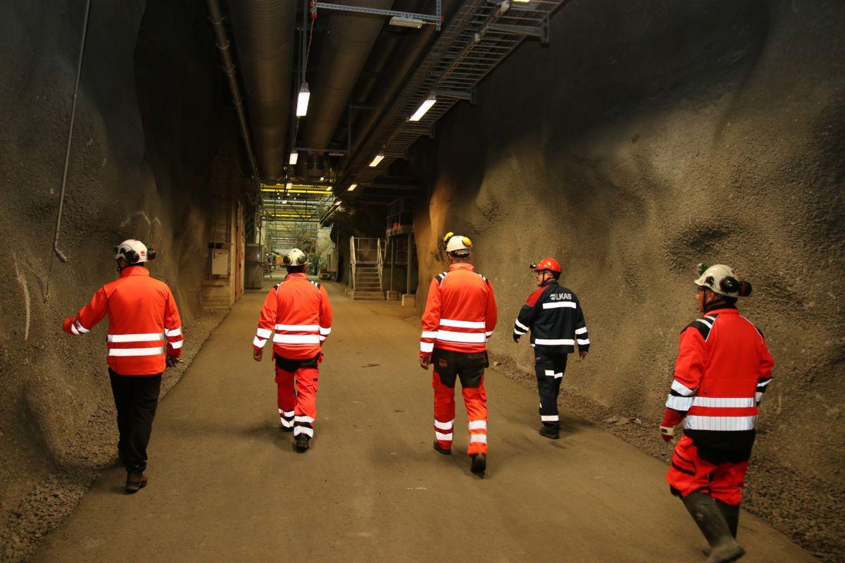 Byggeindustrien var med ned i gruvene i Kiruna og Malmberget.