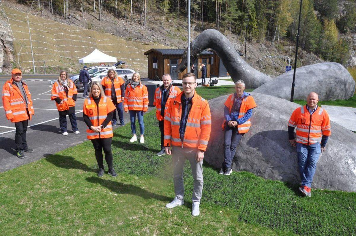 Statens vegvesen sin prosjektorganisasjon på ny rv 36 Bø Seljord. Foto: Kjell Wold/Statens vegvesen