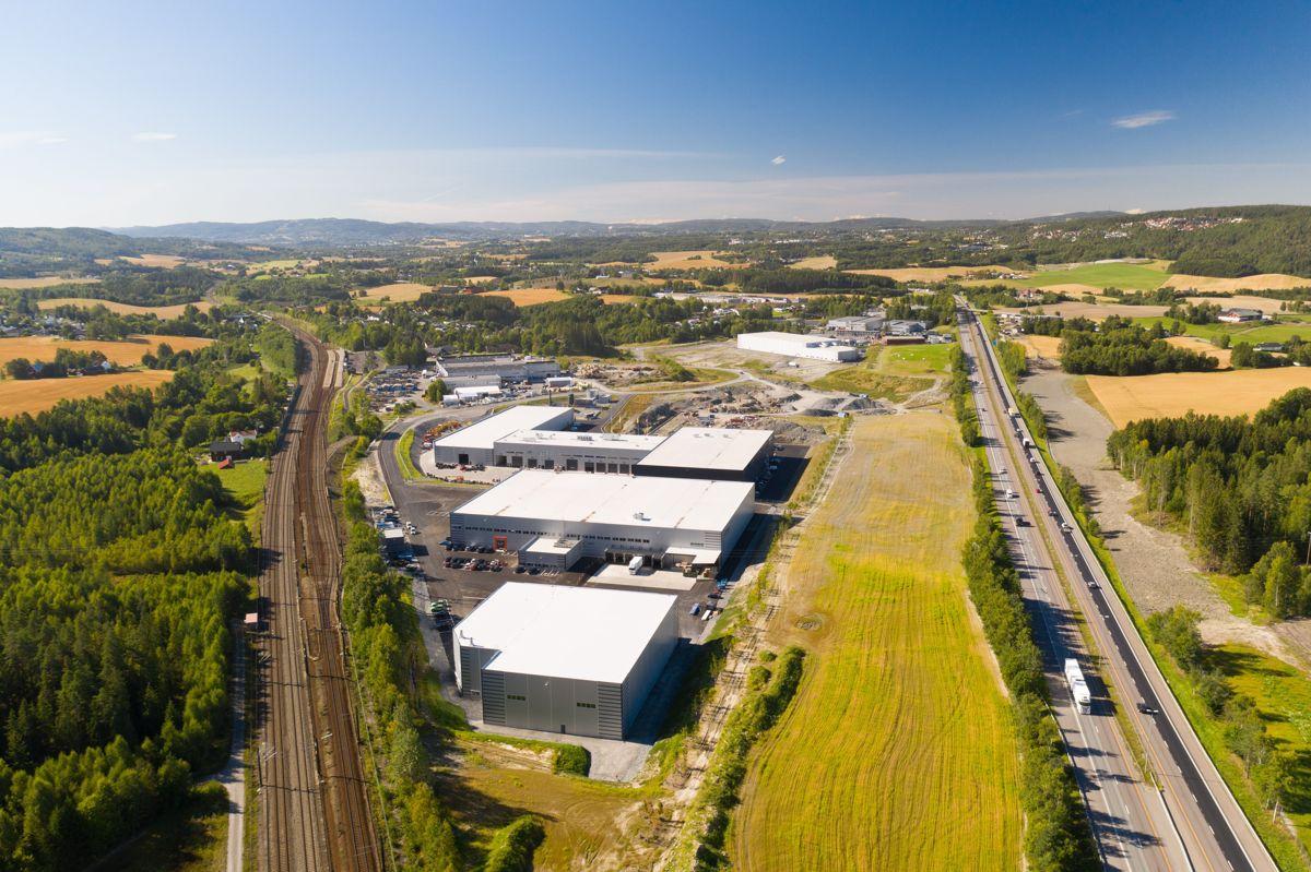 Bulk Park Lindeberg er et av Bulk Industrial Real Estate sine lager- og logistikkområder i Norge. Parken ligger langs E6 mellom Oslo og Gardermoen. Foto: Bulk Industrial Real Estate