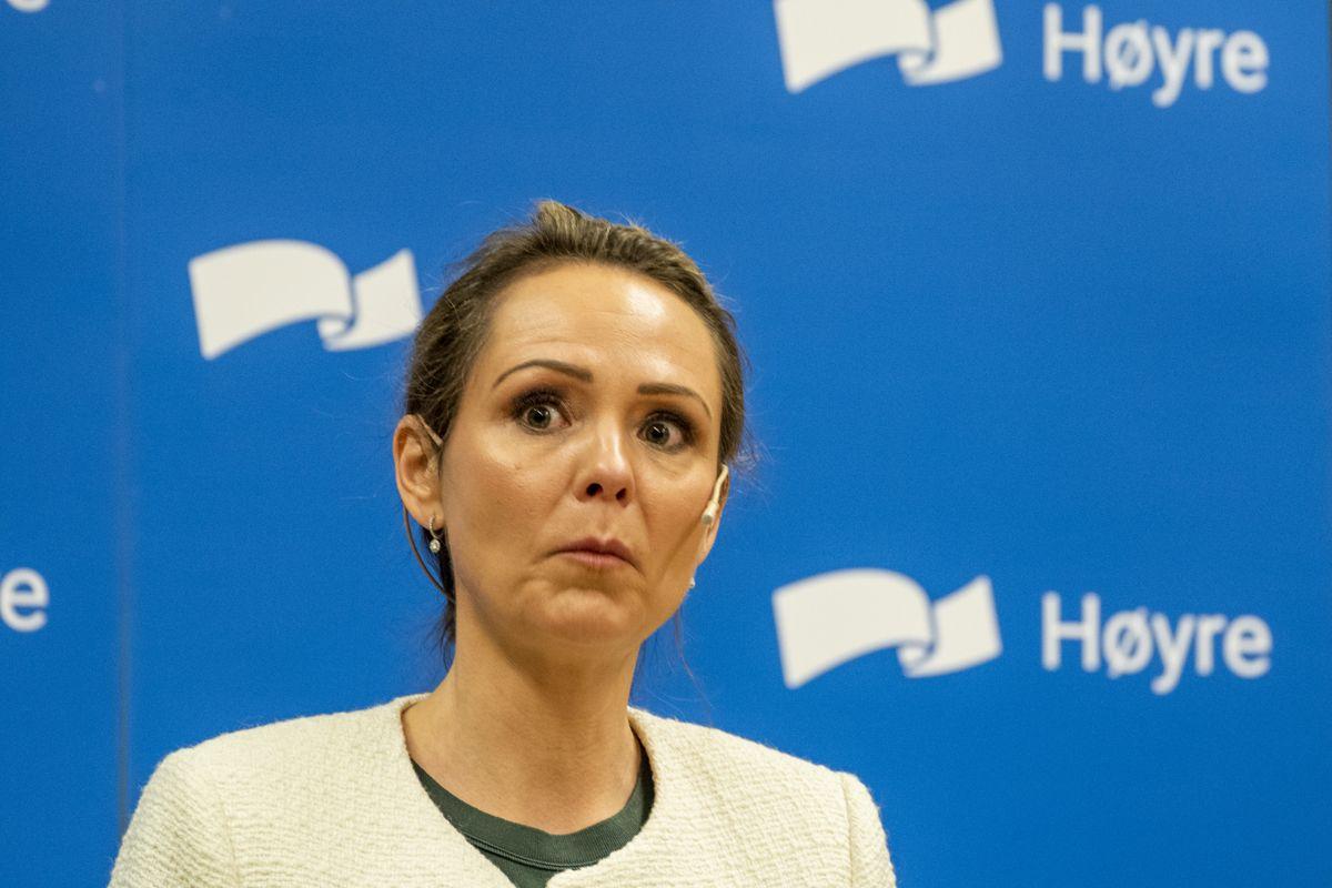 Distrikts- og digitaliseringsminister Linda Hofstad Helleland (H) vil gi Husbanken flere midler til boliger i Distrikts-Norge. Foto: Terje Pedersen / NTB