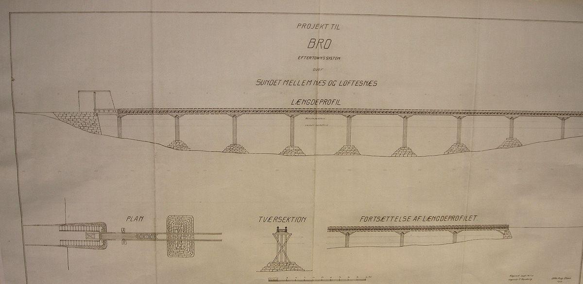 Før dagens bru ble bygget på slutten av 1950-tallet, ble det foreslått flere brukonstruksjoner på stedet.