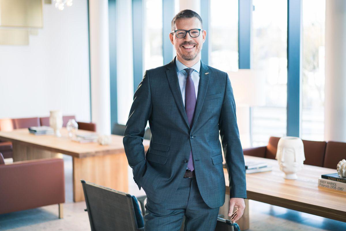 Administrerende direktør Jens Brandin i Radisson Blu Atlantic Hotel. Foto: Lisa Löwenborg