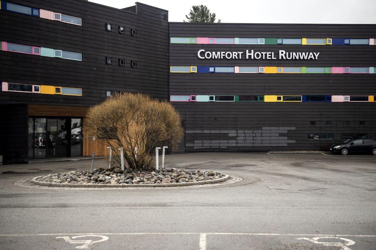 Comfort Hotel Runway er et av karantenehotellene ved Oslo lufthavn for innreisende til Norge. Foto: Annika Byrde / NTB