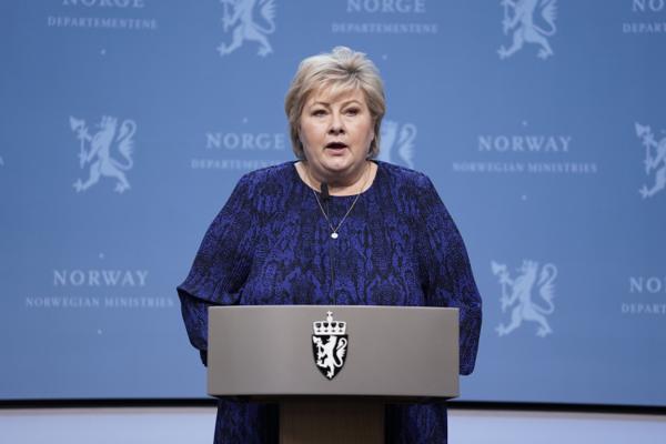 Statsminister Erna Solberg fortalte fredag at Norge er klar for trinn tre i gjenåpningsplanen. Foto: Stian Lysberg Solum / NTB