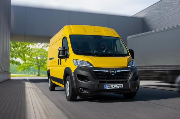Opel Movano-e er Opels første elektriske varebil i den største klassen. Nye Movano kommer også med dieselmotorer. Foto: Opel