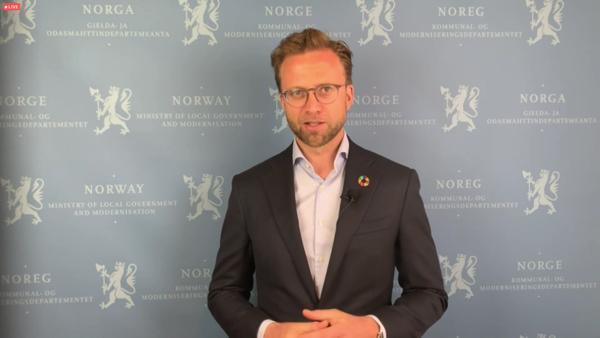 Nikolai Astrup, kommunal- og moderniseringsminister (H).