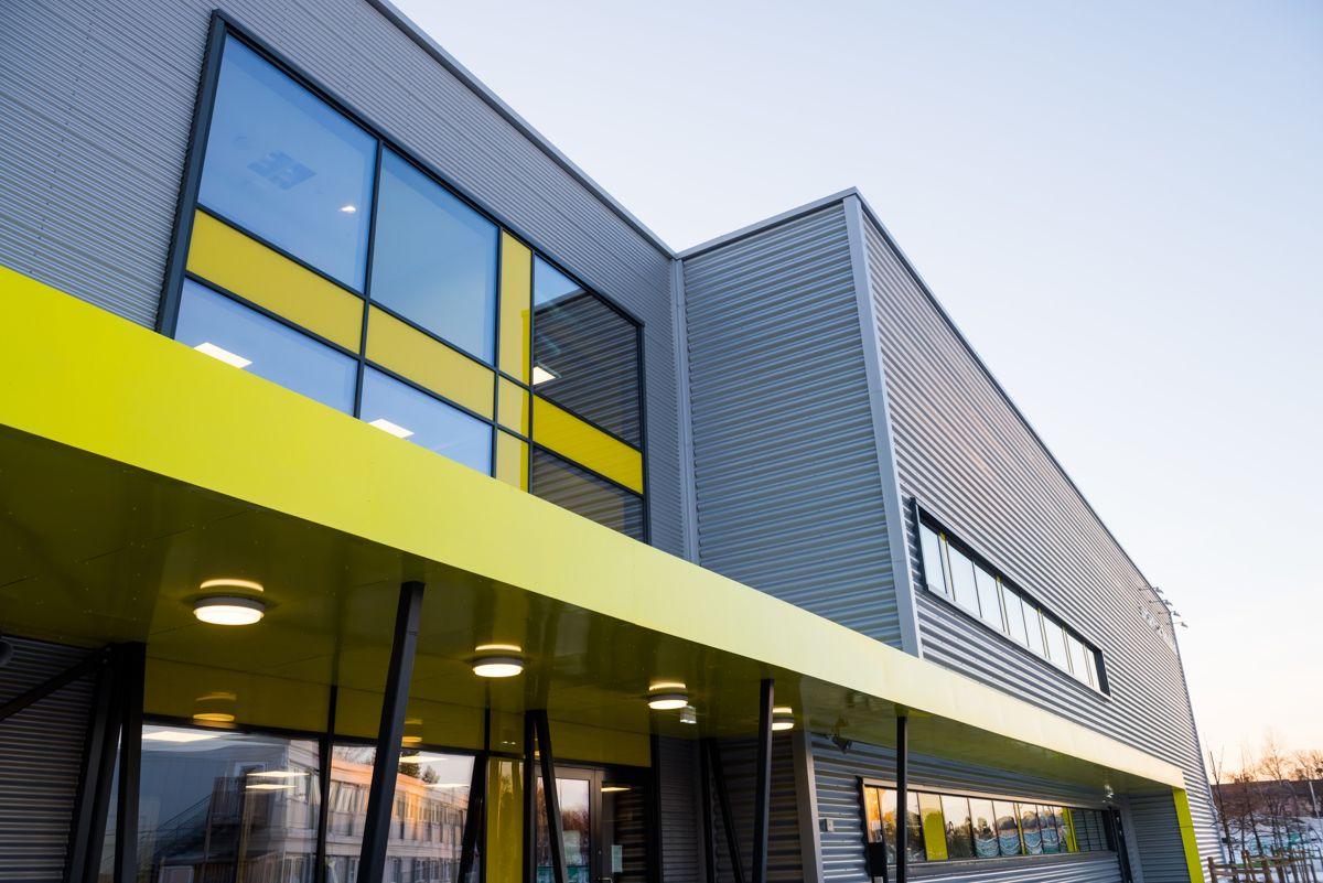 Lambertseter flerbrukshall er landets første kommunale idrettshall som har en egen skreddersydd hall for bryting. Foto: Kultur- og idrettsbygg Oslo KF/Finn Ståle Felberg