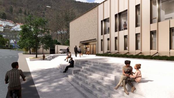 Landåssvingen 15 i Bergen. Illustrasjon: 3RW arkitekter/HLM Arkitektur