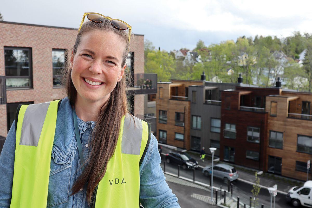 Prosjektleder Synne Sveipe i Vedal Entreprenør. Foto: Svanhild Blakstad