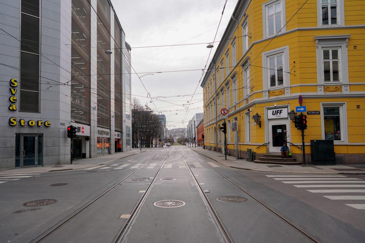 Tomme gater. Færre enn før vil ha et helt bilfritt sentrum i Oslo. Foto: Fredrik Hagen / NTB