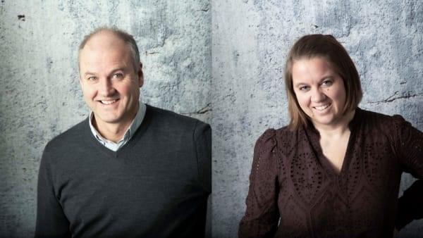 Tor Olav Almås og Cathrine Marstein Engen i Norconsult Informasjonssystemer (NoIS). Foto: NoIS.