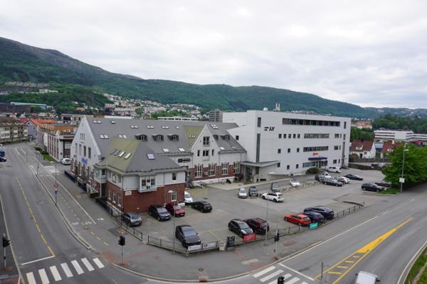 OBOS har kjøpt en 25 mål stor eiendom sentralt i Bergen. Foto: OBOS
