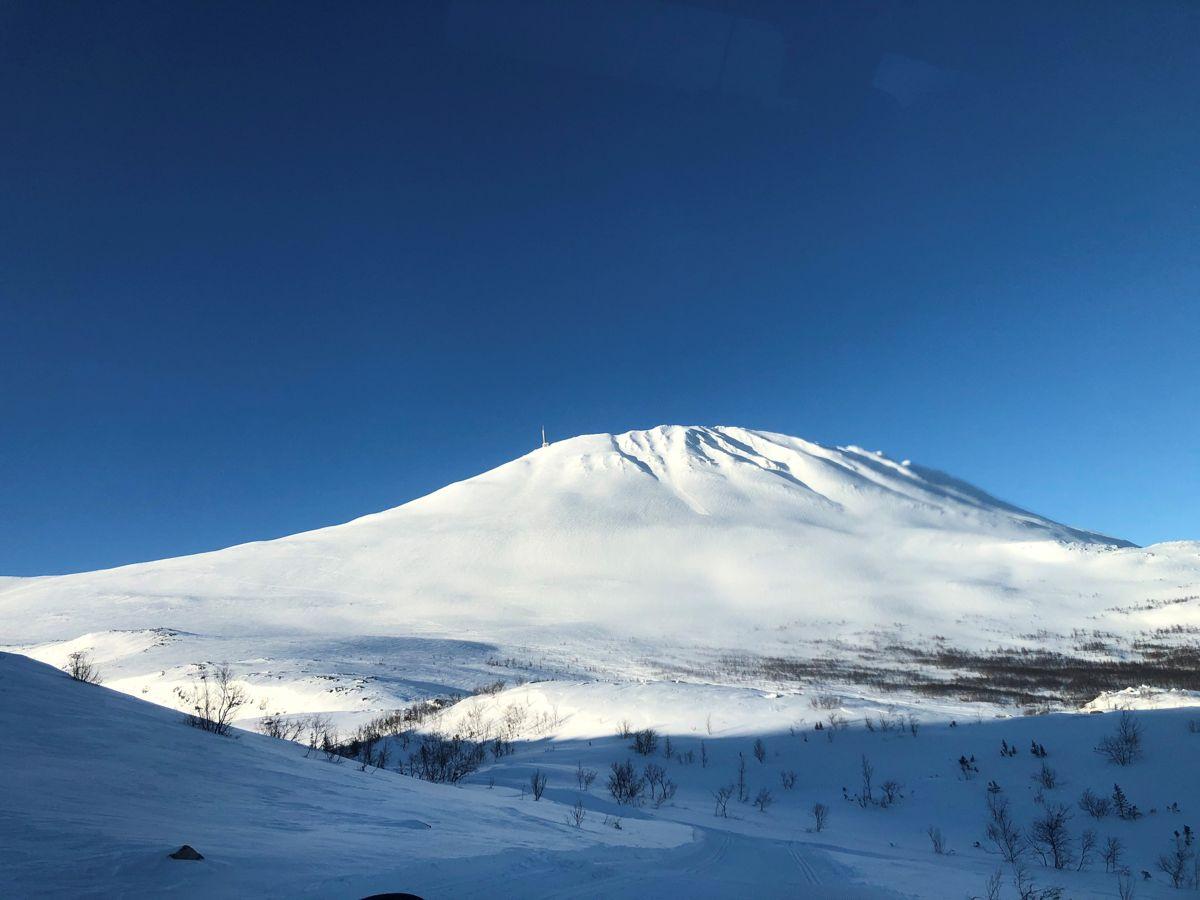 Gaustabanen er bygget inne i den 1883 meter høye Gaustatoppen ved Rjukan i Tinn kommune . Foto: Ådne Homleid.