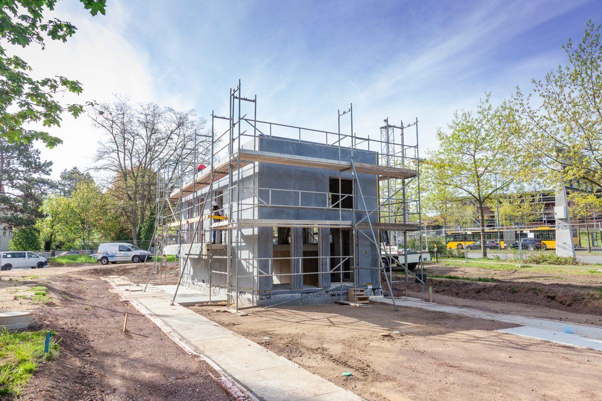 Forskere ved Dresdens tekniske universitet er i gang med byggingen av The BOX, en slank og lettvektig betongkonstruksjon gjort mulig ved blant annet glassfiber og karbonforsterkning. Foto: Deutsche Universität Dresden