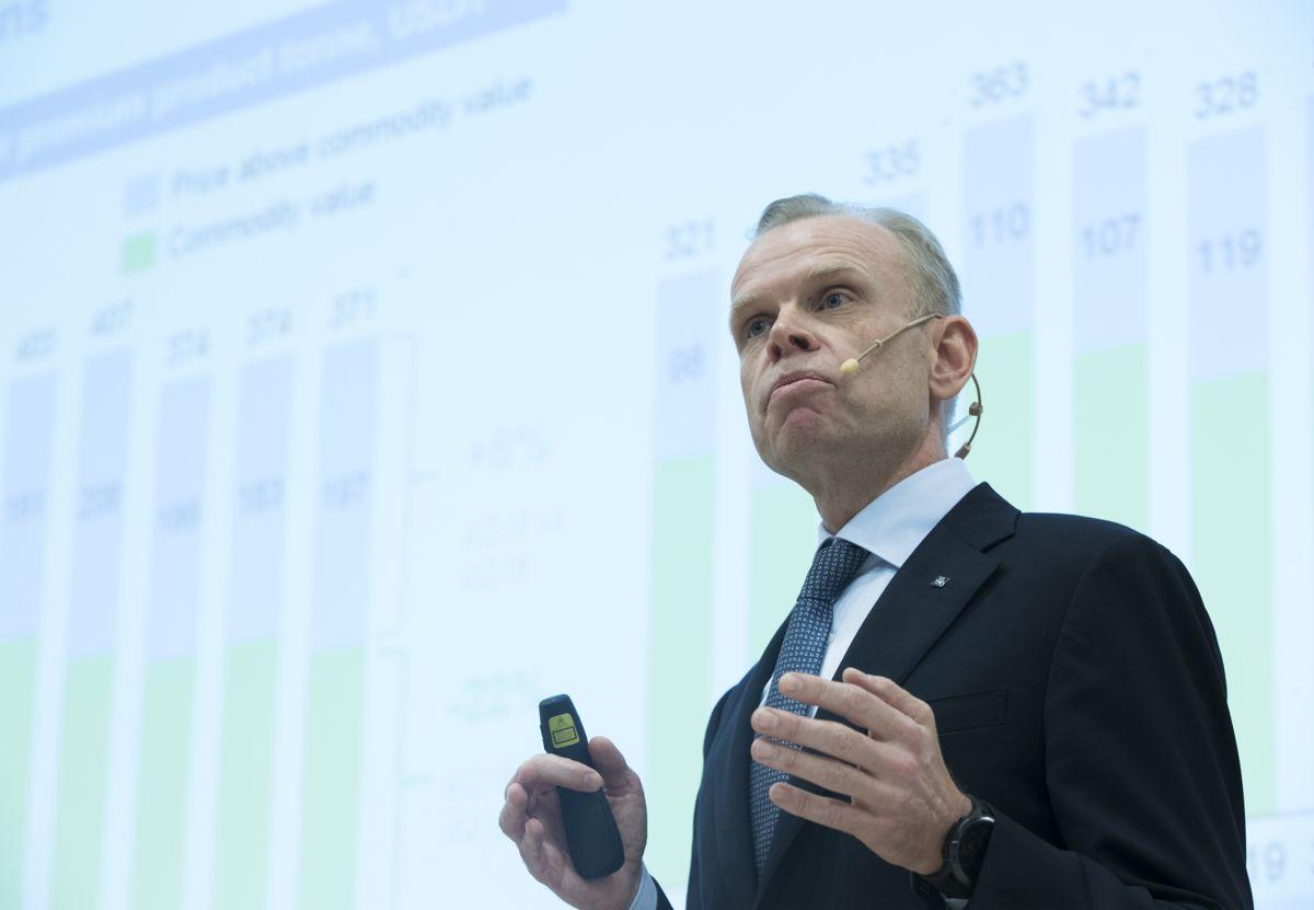 Konsernsjef Svein Tore Holsether i Yara blir ny president i styret til NHO. Foto: Terje Pedersen / NTB