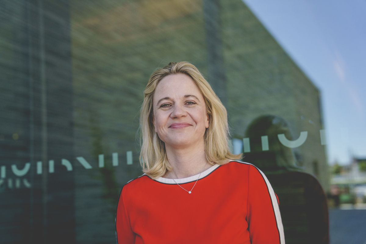 Direktør Karin Hindsbo i nye Nasjonalmuseet. Foto: Stian Lysberg Solum / NTB