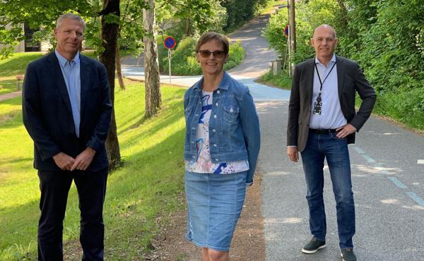 Asle Randen (f.v.), Rannveig Ravnanger Lande og Ole Henrik Ystehede. Foto: EBA