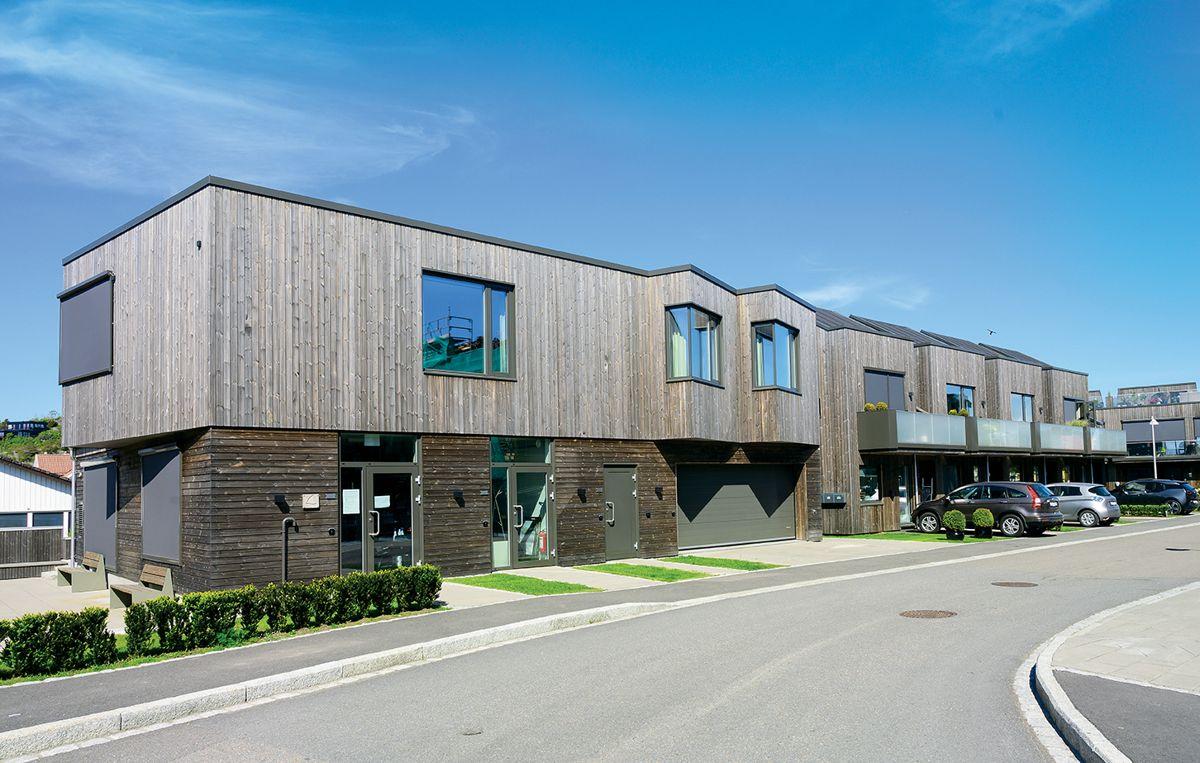 Sjøhuset på Saltbrygga i Larvik, 31.5.2021. Foto: Trond Joelson, Byggeindustrien