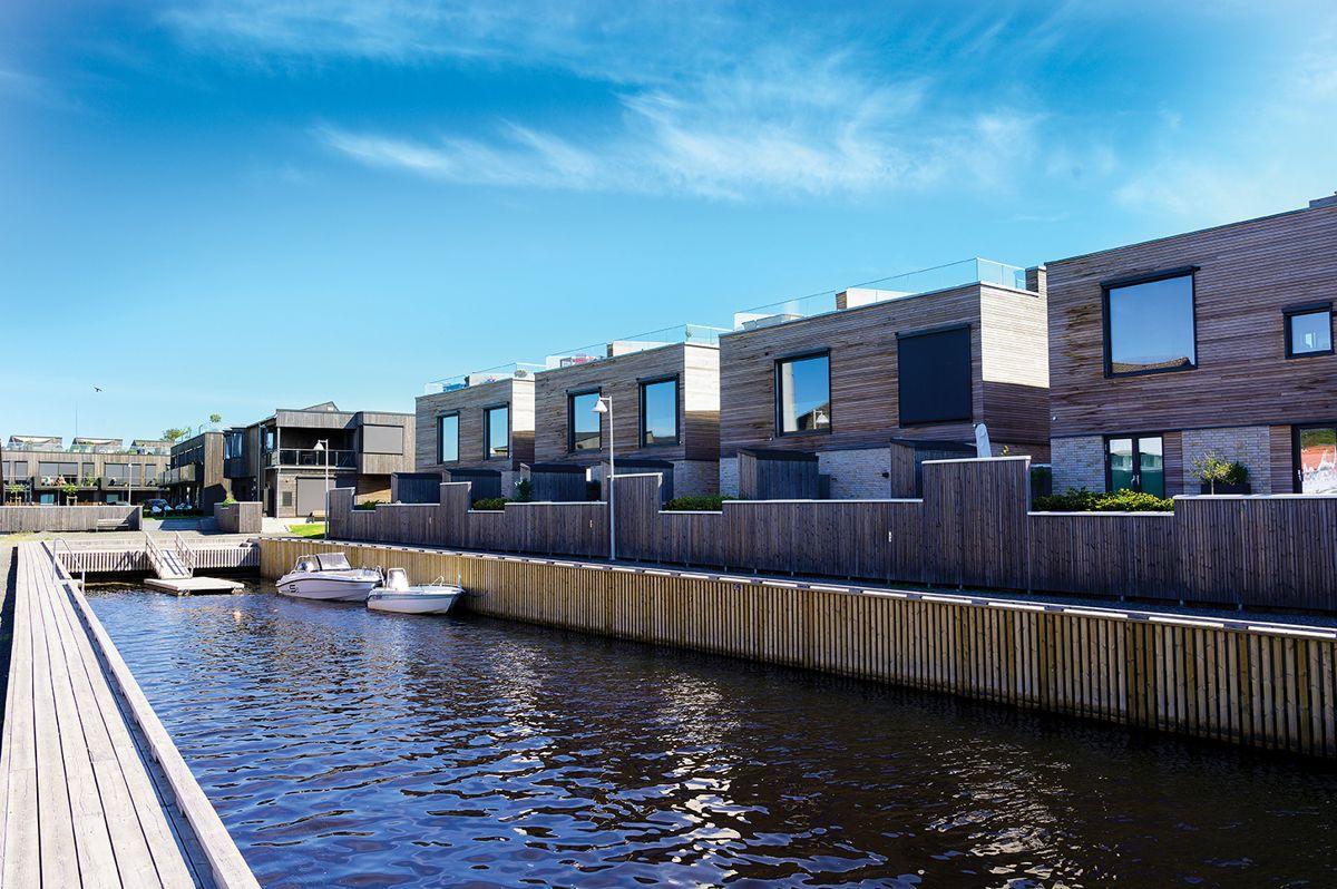 Kanalen på Saltbrygga i Larvik, 31.5.2021. Foto: Trond Joelson, Byggeindustrien